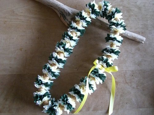 Naupaka with Ginger Lei